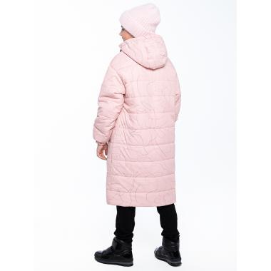 Зимнее пальто для девочки NIKASTYLE (пудровый), 8-15 лет