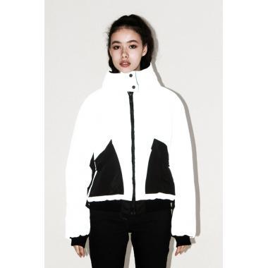 Демисезонная куртка RIONA для девочки SHINE (белый/черный), 11-15 лет
