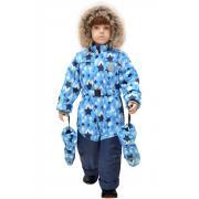 Зимний комбинезон для мальчика RUSLAND (голубой), 1 года - 3 лет