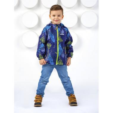 Ветровка SELEO для мальчика FABIEN (серый/зеленый), 4-9 лет