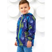 Ветровка SELEO для мальчика FABIEN (голубой/лайм), 4-9 лет