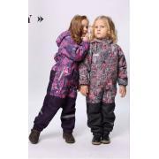 Демисезонный комбинезон SELEO для девочки (серый), 2-5 лет