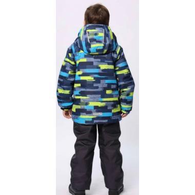 Демисезонный комплект SELEO для мальчика (синий/салатовый), 7 - 10 лет