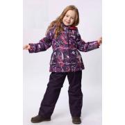 Демисезонный комплект SELEO для девочки (фиолетовый), 2 - 7 лет