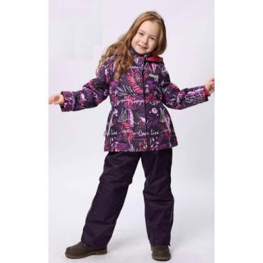 Купить Демисезонный комплект SELEO для девочки (фиолетовый), 2 - 7 лет