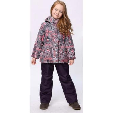 Купить Демисезонный комплект SELEO для девочки (серый), 2 - 7 лет