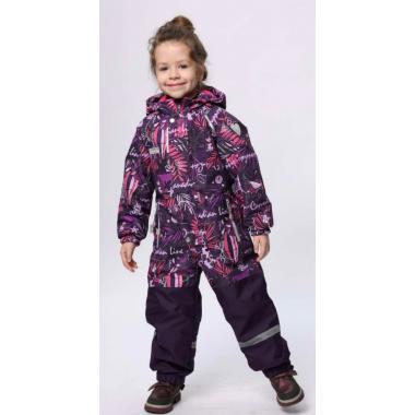 Демисезонный комбинезон SELEO для девочки (фиолетовый), 2-5 лет