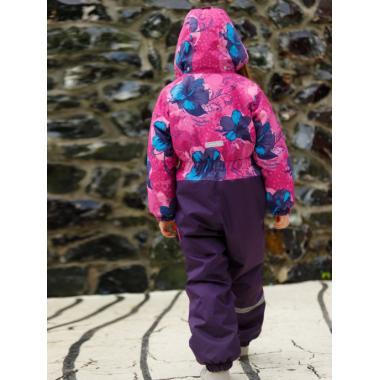 Зимний комбинезон SELEO для девочки FLORA (розовая фуксия/фиолетово-баклажанный), 4 - 7 лет