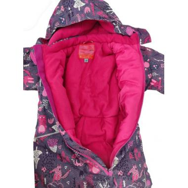 Зимний комбинезон SELEO для девочки LESLEY (сиреневый/розовый), 1 года - 4 лет