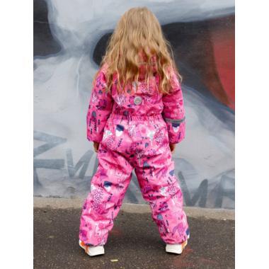 Зимний комбинезон SELEO для девочки LESLEY (коралловый/-розовый), 1 года - 4 лет