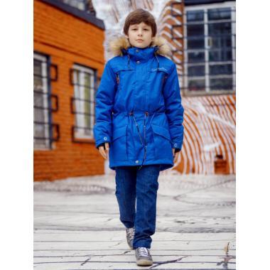 Зимняя куртка SELEO для мальчика CHESTER (голубой), 9 - 15 лет