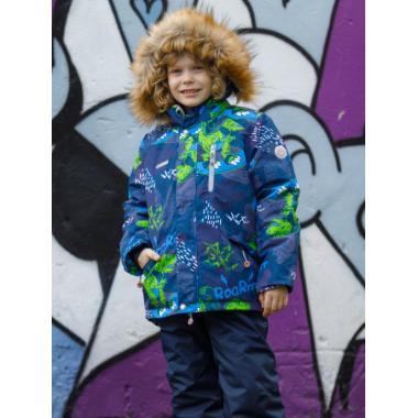Зимний комплект SELEO для мальчика LESTER (темно--синий/зеленый), 2 - 8 лет