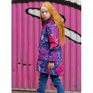 Зимняя куртка-парка SELEO для девочки VERONICA (сиреневый/малиновый), 2 - 10 лет