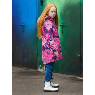 Зимняя куртка-парка SELEO для девочки VERONICA (малиновый/темно-синий), 2 - 10 лет
