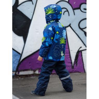 Зимний комплект SELEO для мальчика ROY (голубой/лайм), 2 - 6 лет