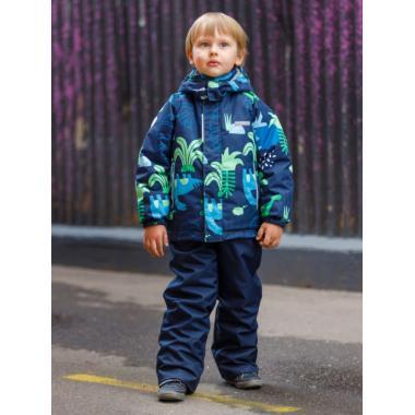 Зимний комплект SELEO для мальчика ROY (синий/зеленый), 2 - 6 лет