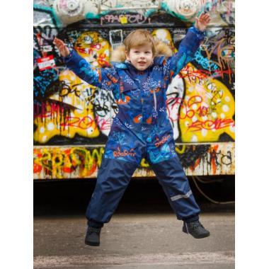 Зимний комбинезон SELEO для мальчика COLIN (синий/оранжевый), 2 - 5 лет