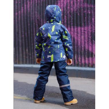 Зимний комплект SELEO для мальчика LEO (темно-синий/оливковый), 4 - 8 лет