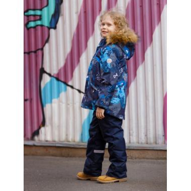 Зимний комплект SELEO для мальчика LESTER (серо-синий/голубой), 2 - 8 лет