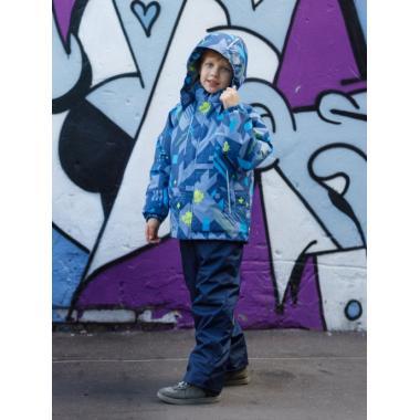 Зимний комплект SELEO для мальчика LEO (джинс/синий), 4 - 8 лет