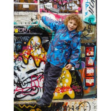 Зимний комплект SELEO для мальчика LEO (голубой/серый), 4 - 8 лет