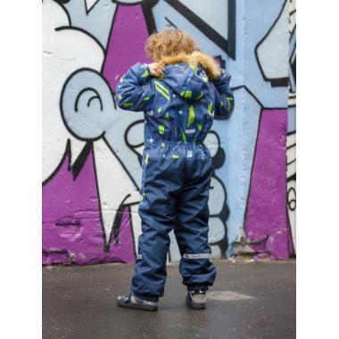Зимний комбинезон SELEO для мальчика BLAKE (серый/зеленый), 5 - 8 лет
