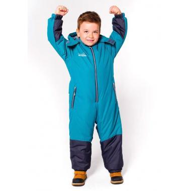 Зимний комбинезон SELEO для мальчика NEVIL (неон/серый), 4-9 лет