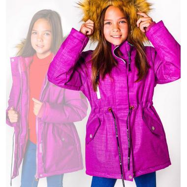 Зимняя парка SELEO для девочки SANDRA (малина), 6-12 лет