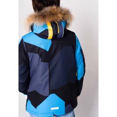 Зимняя куртка SELEO для мальчика NEWMAN (графит/лимон), 8-12 лет