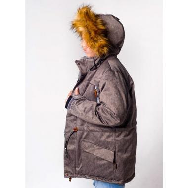 Зимняя парка SELEO для мальчика DENICE (коричневый), 9-15 лет