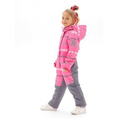 Демисезонный комбинезон STELLA KIDS для девочки GREEK (розовый), 3-6 лет