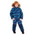 Зимний комбинезон STELLA KIDS для мальчика ВОЛНЫ (синий принт волна), 3-6 лет