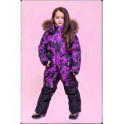 Зимний комбинезон STELLA KIDS для девочки SKY (фиолетовый), 5 - 9 лет