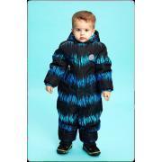 Зимний комбинезон STELLA KIDS для мальчика ENERGY (синий/бирюза), 1 года - 3 лет