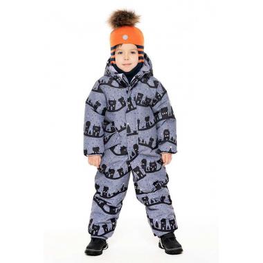 Зимний комбинезон STELLA KIDS для мальчика OLD TOWN (серый), 1,5 года - 3 лет