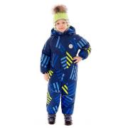 Зимний комбинезон STELLA KIDS для мальчика (синий/лимон), 2-4 лет