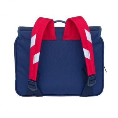 Детский рюкзак для мальчика GRIZZLY (т.синий - серый - красный)
