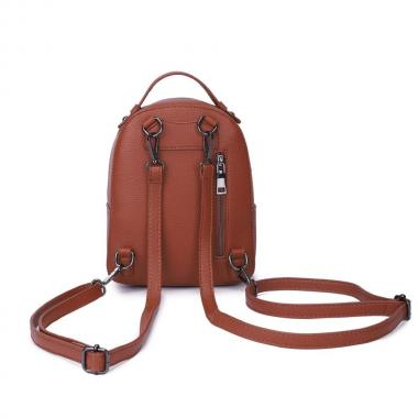 Женский рюкзак из экокожи Ors Oro (коричневый)