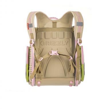 RA-871-14 Рюкзак школьный с мешком (/1 бежевый - салатовый)