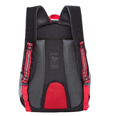 Школьный рюкзак для мальчика Grizzly (черный-красный)