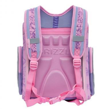 Школьный рюкзак с мешком для девочек Grizzly (лиловый)