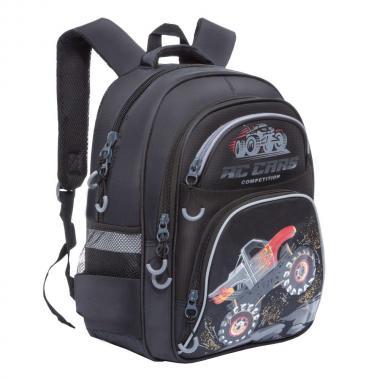 RB-860-6 Рюкзак школьный (/1 черный - голубой)