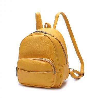 Женский рюкзак из экокожи Ors Oro (желтый)