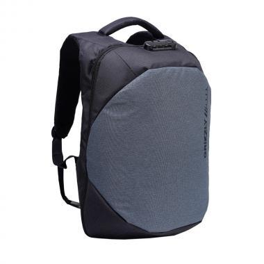 Мужской рюкзак GRIZZLY (черный - серый)