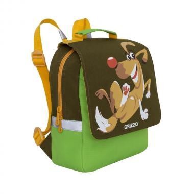 Детский рюкзак GRIZZLY (хаки-салатовый)