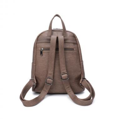 Женский рюкзак из экокожи Ors Oro (оливковый-джинс)