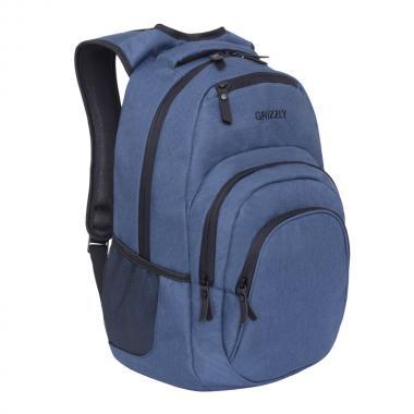 Мужской рюкзак GRIZZLY — RQ-900-1 (джинсовый)