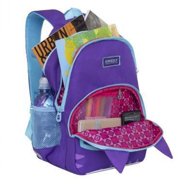 Школьный рюкзак для девочек GRIZZLY (фиолетовый)