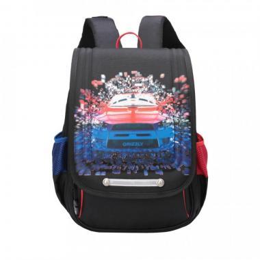 Школьный рюкзак для мальчика GRIZZLY (черный)