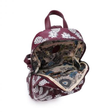 Женский рюкзак из экокожи Ors Oro (ананасы на фиолетовом)